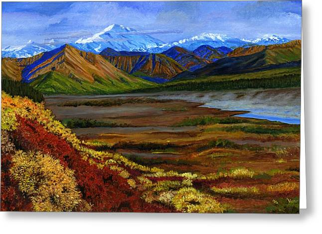 Print On Acrylic Greeting Cards - Fall in Alaska Greeting Card by Vidyut Singhal