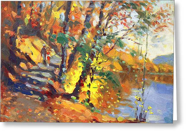 Fall in Bear Mountain Greeting Card by Ylli Haruni