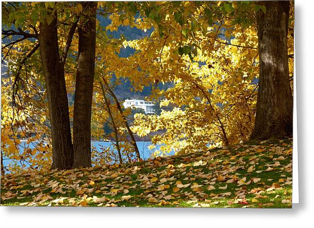 Lake House Greeting Cards - Fall In Kaloya Park 3 Greeting Card by Will Borden