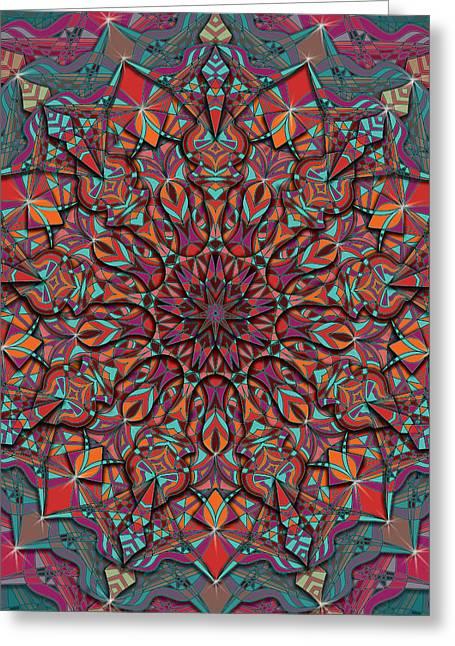 Geometry In Orange Greeting Cards - Fall In Greeting Card by Megan Manske