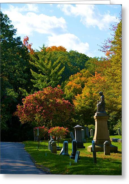 Fall In Mount Hope Cemetery 1 Greeting Card by Richard Jenkins