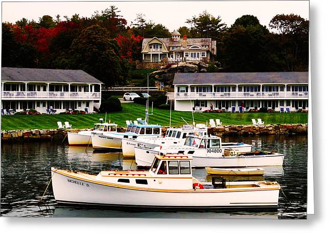 Coastal Maine Greeting Cards - Fall in Perkins Cove Greeting Card by Craig Morrison