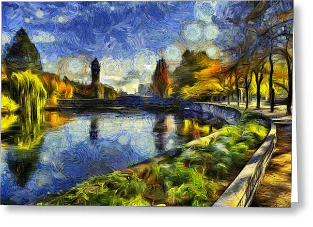 Spokane Greeting Cards - Fall in Riverfront Park Spokane Greeting Card by Mark Kiver