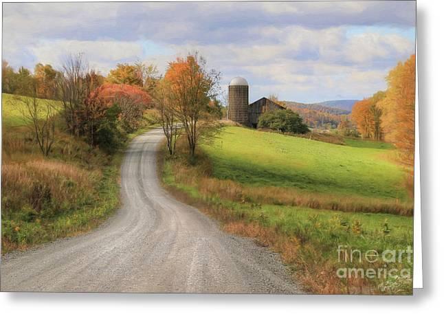 Fall In Rural Pennsylvania Greeting Card by Lori Deiter