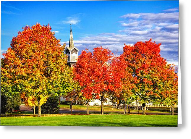 Fall In The Country Greeting Card by Carolyn Derstine
