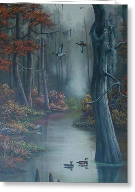 Hunting Bird Greeting Cards - Fall In The Swamp Greeting Card by Tom Windham