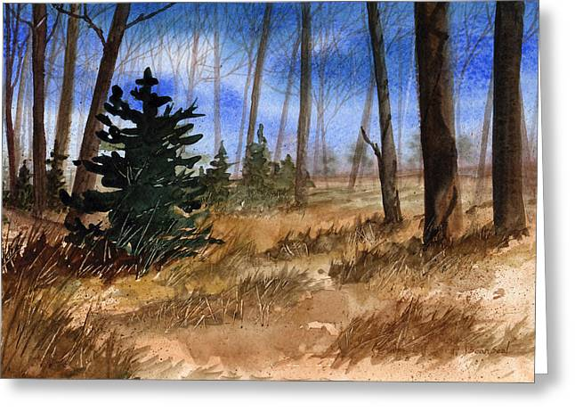 Fall Grass Paintings Greeting Cards - Fall Meadow Greeting Card by Sean Seal