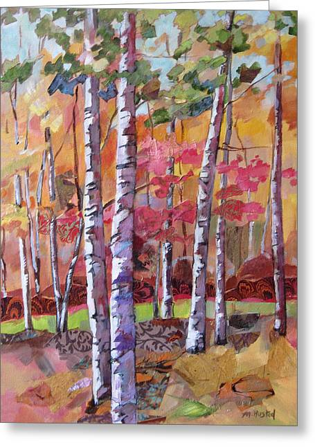 Fall Medley Greeting Card by Marty Husted