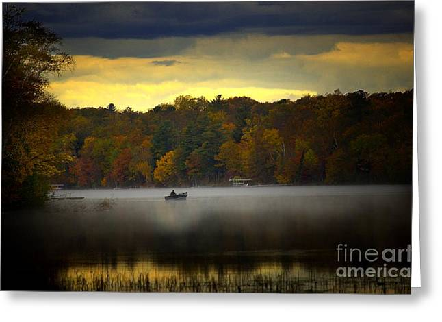 Thomas Vanselus Digital Art Greeting Cards - Fall Morn On The Chippiwa Greeting Card by The Stone Age