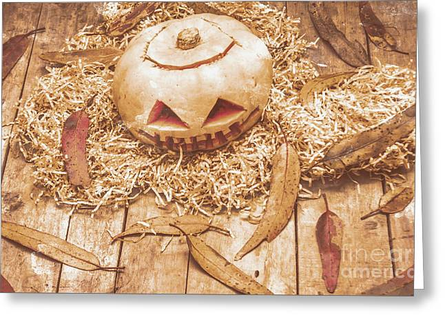Fall Of Halloween Greeting Card by Jorgo Photography - Wall Art Gallery