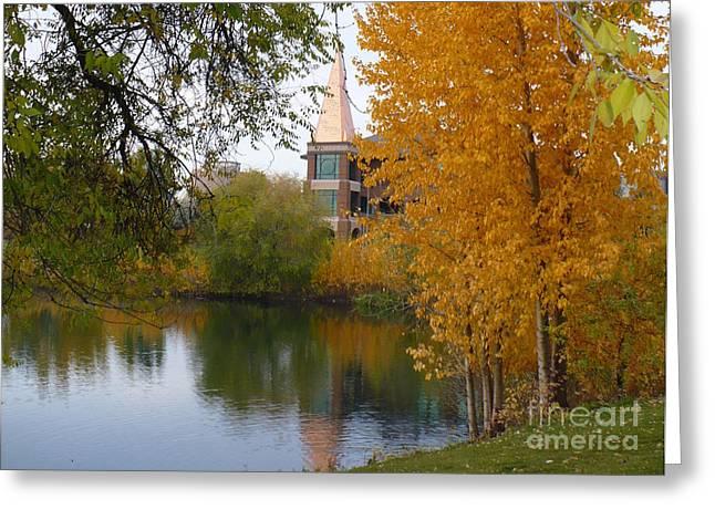 Spokane Greeting Cards - Fall Pond  Greeting Card by Carol Groenen