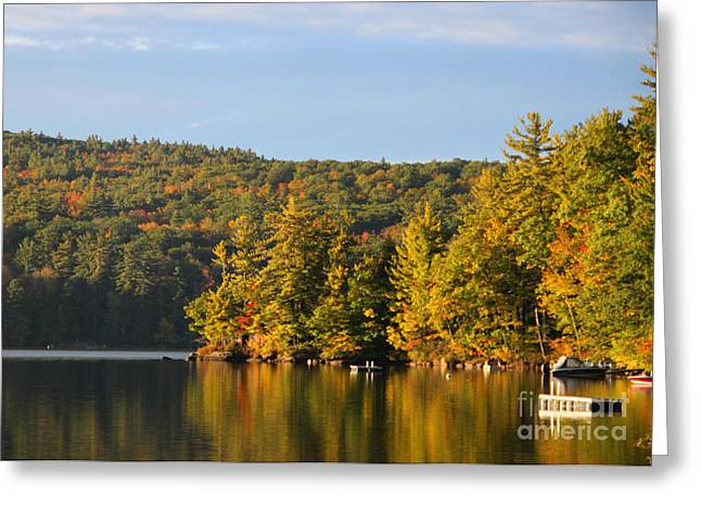 Michael Mooney Greeting Cards - Fall Reflection Greeting Card by Michael Mooney