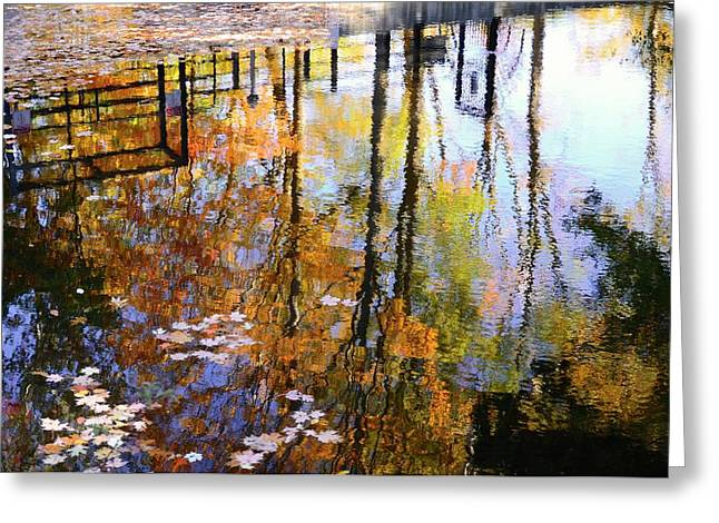 Fall Reflections Greeting Card by Corinne Rhode