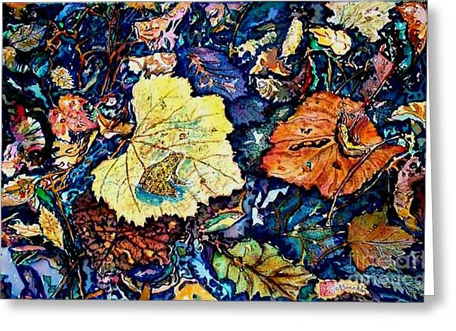 Still Life Tapestries Textiles Greeting Cards - Fall Review Greeting Card by Norma Boeckler