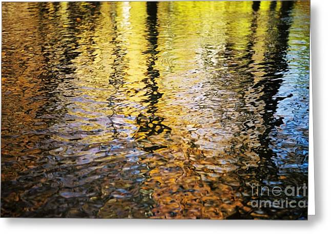 Glassy Lake Surface Greeting Cards - Fall Spirits Greeting Card by Joanne Baldaia - Printscapes