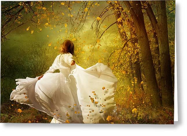 Fall Splendor Greeting Card by Karen K