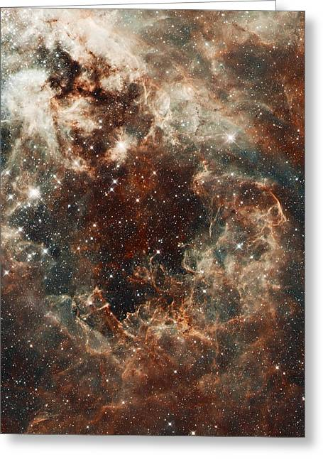Space Alien Greeting Cards - Fall Storm Greeting Card by The  Vault - Jennifer Rondinelli Reilly