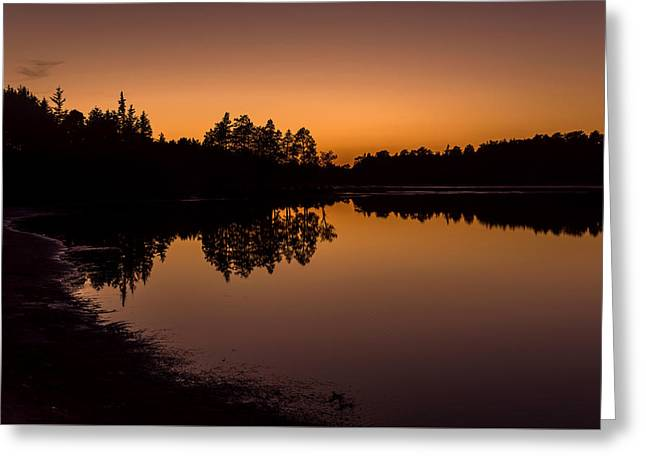 Fall Sunset Lake Horicon Nj  Greeting Card by Terry DeLuco