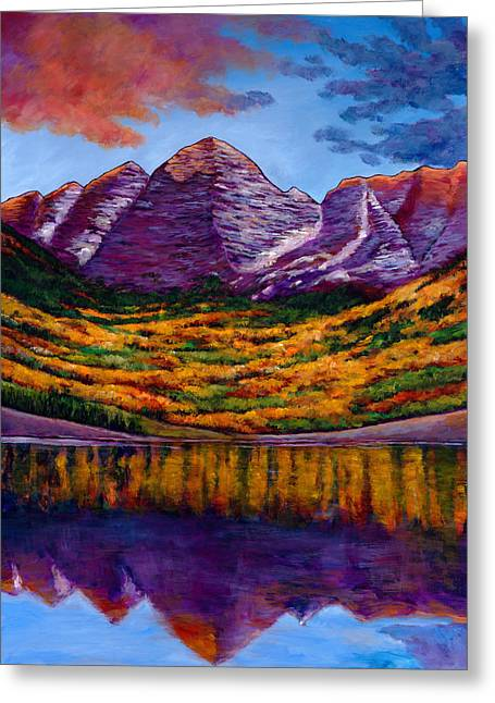 Mountains New Mexico Greeting Cards - Fall Symphony Greeting Card by Johnathan Harris