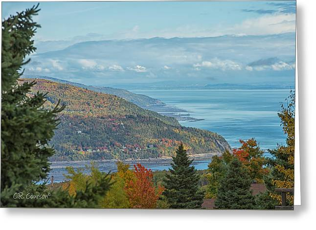 Fall View Of The St. Lawrence Greeting Card by CR  Courson