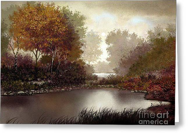 Fallen Leaf Greeting Cards - Fall Waters Greeting Card by Robert Foster