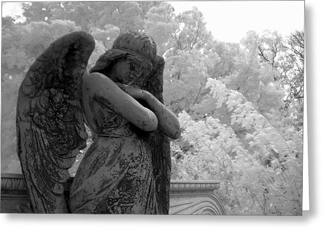 Infrared Photography Greeting Cards - Fallen Angel Greeting Card by Jane Linders