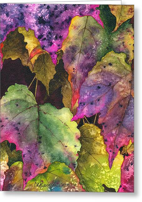 Napa Paintings Greeting Cards - Fallen Greeting Card by Casey Rasmussen White