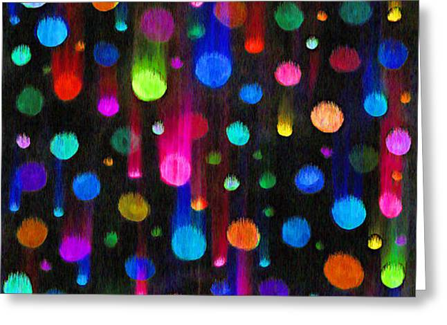 FALLING BALLS OF COLOR Greeting Card by Carl Deaville