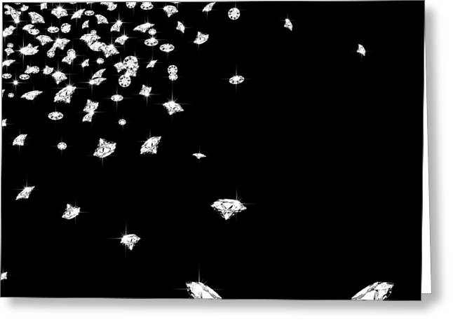 Background Greeting Cards - Falling Diamonds Greeting Card by Setsiri Silapasuwanchai
