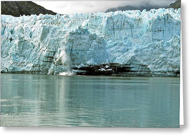 Falling Ice 8419 Greeting Card by Michael Peychich