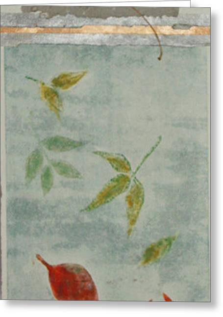 Printmaking Greeting Cards - Falling Leaves l Greeting Card by J L Carothers