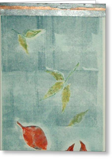 Printmaking Greeting Cards - Falling Leaves ll Greeting Card by J L Carothers
