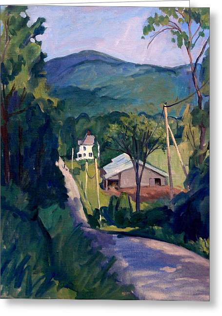 Abstract Realist Landscape Greeting Cards - Falling Light Berkshires Greeting Card by Thor Wickstrom
