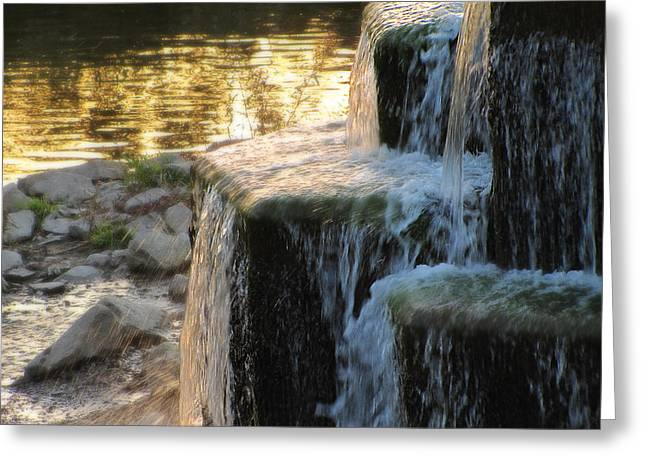 Stepping Stones Greeting Cards - Falling Greeting Card by Scott Hovind