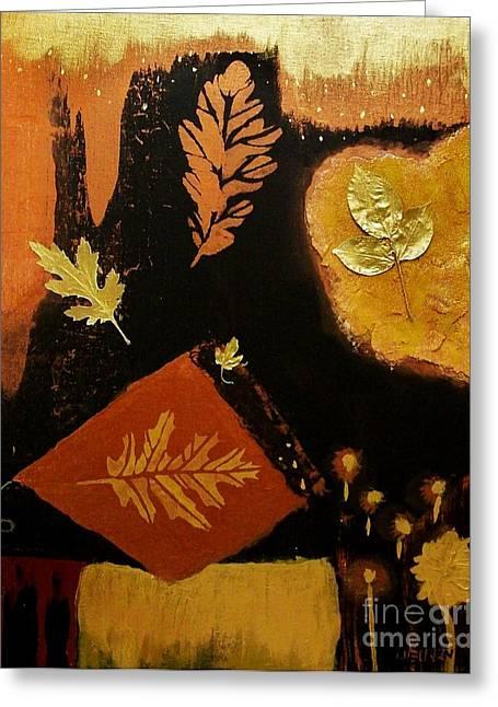 Falling Things Greeting Card by Marsha Heiken