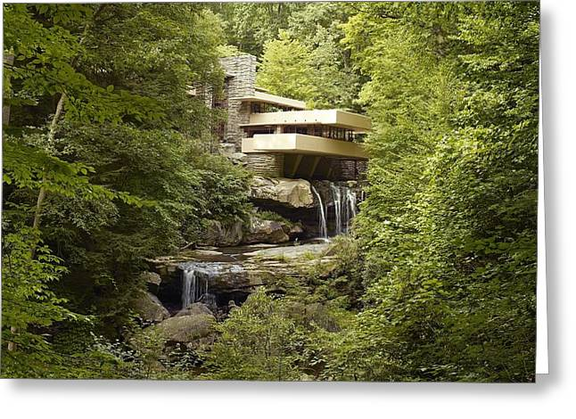 Frank Lloyd Wright Greeting Cards - Falling Water Greeting Card by Carol Highsmith