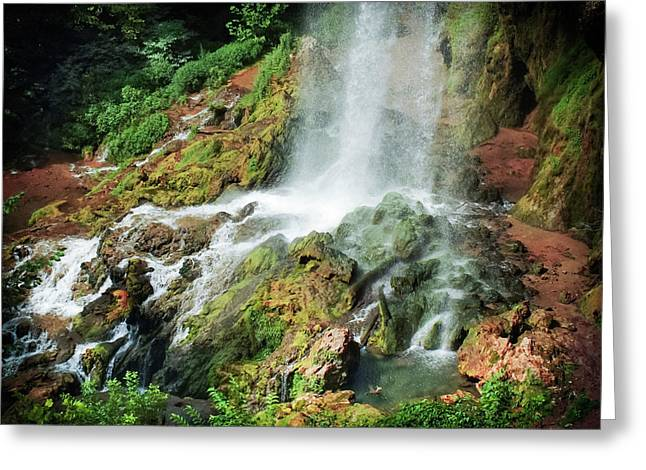 Falling Waters Greeting Card by Karen Wiles