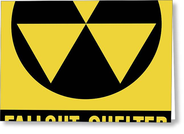 Fallout Shelter Sign Greeting Card by War Is Hell Store