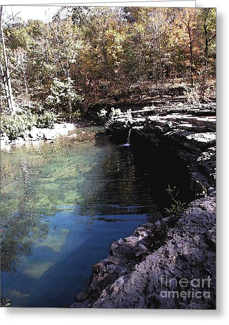 Richland Creek Greeting Cards - Falls At Richland Creek Greeting Card by Steve Grisham