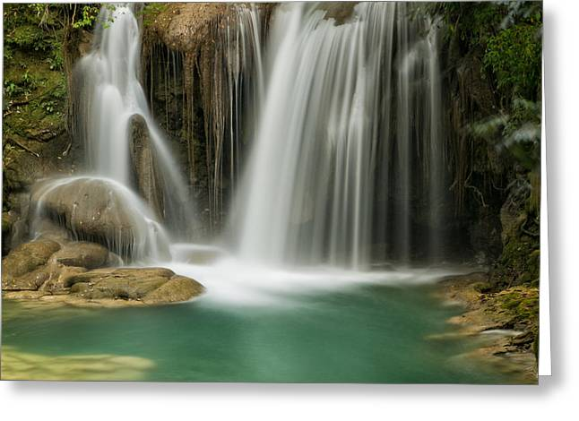 Roberto Greeting Cards - Jungle Waterfall Greeting Card by Jurgen Lorenzen