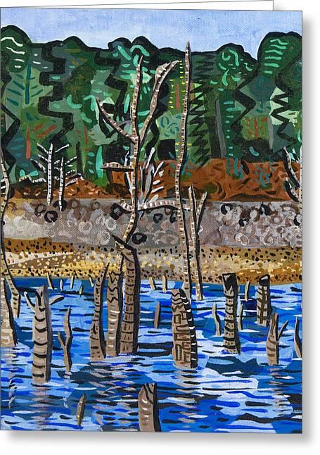 Falls Lake At Six Forks Road Greeting Card by Micah Mullen