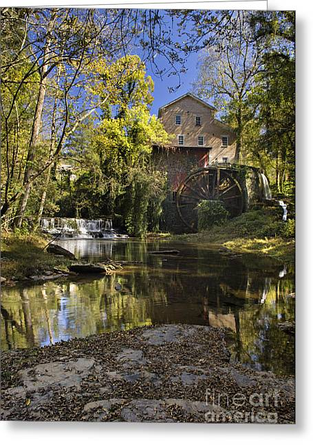 Falls Mill - D009770 Greeting Card by Daniel Dempster