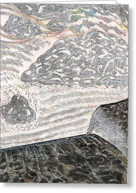 The Plateaus Drawings Greeting Cards - Falls View Greeting Card by Al Goldfarb