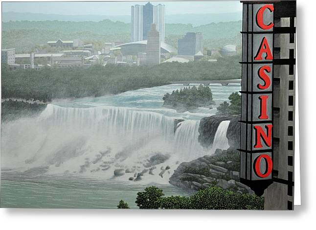 Falls View Greeting Card by Kenneth M  Kirsch