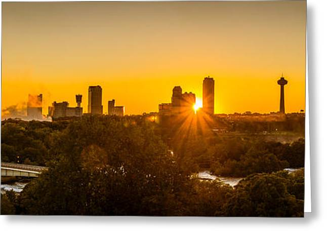 Falls View Sunset Greeting Card by Chris Bordeleau