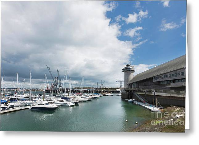Falmouth Discovery Quay Greeting Card by Terri Waters