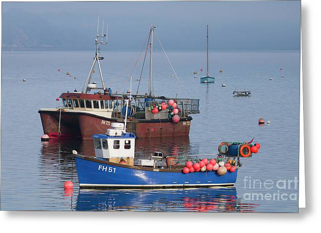 Falmouth Fishing Boats Greeting Card by Terri Waters