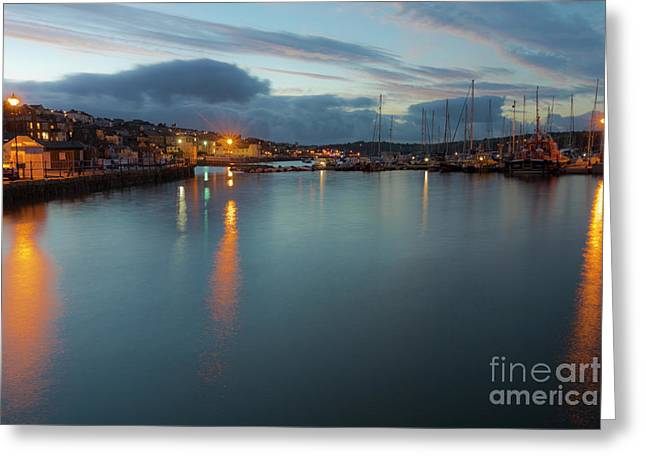 Falmouth Inner Harbour Greeting Card by Terri Waters