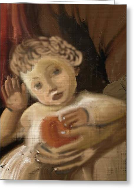 Master Piece Greeting Cards - Familia bambino  Greeting Card by Pat Carafa
