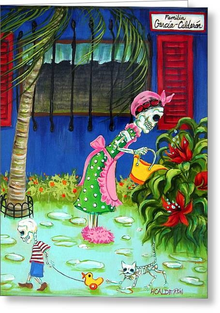Familia Garcia Calderon Greeting Card by Heather Calderon